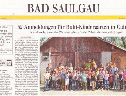 Bericht in der Schwäbischen Zeitung zum BuKi-Sommer 2019