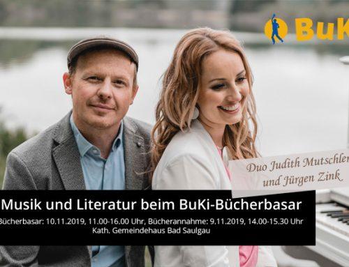 Musik und Literatur beim BuKi-Bücherbasar im Herbst 2019