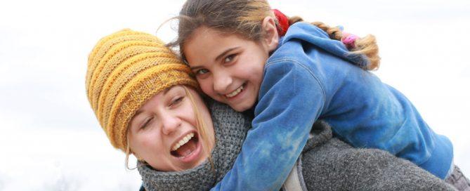 Lena Schmitt mit BuKi-Kindern