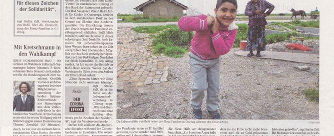 Beitrag über die Arbeit von BuKi in der Schwäbischen Zeitung
