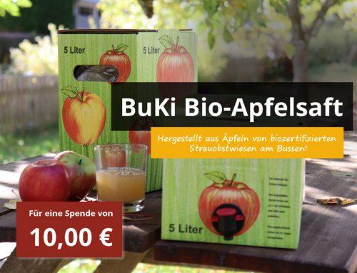 Ab jetzt verfügbar: BuKi Bio-Apfelsaft