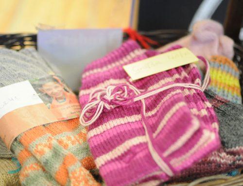 BuKis handgestrickte Socken jetzt im Kaufhaus Linders