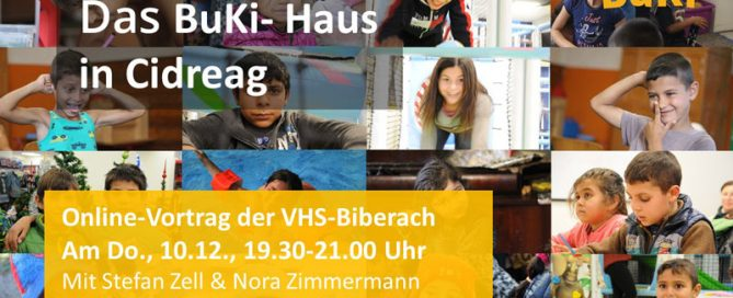 Online-Vortrag Kinderarmut und Bildung, das BuKi-Haus in Cidreag