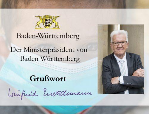 Grußwort von Winfried Kretschmann zum 10-jährigen Bestehen des BuKi-Hauses in Cidreag