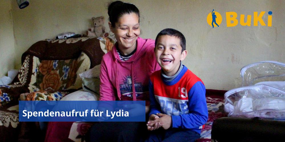 Spendenaufruf für Lydia