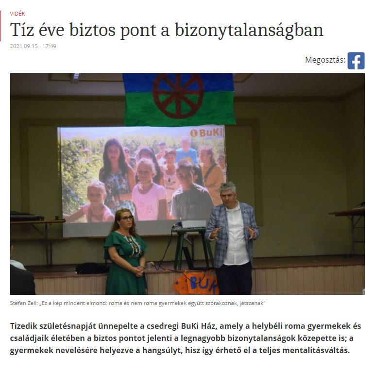 10 Jahre BuKi-Haus in Cidreag Friss Ujsag Berichtet