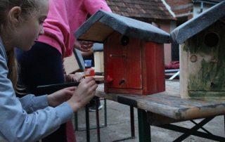 Bemalung Vogelhaus